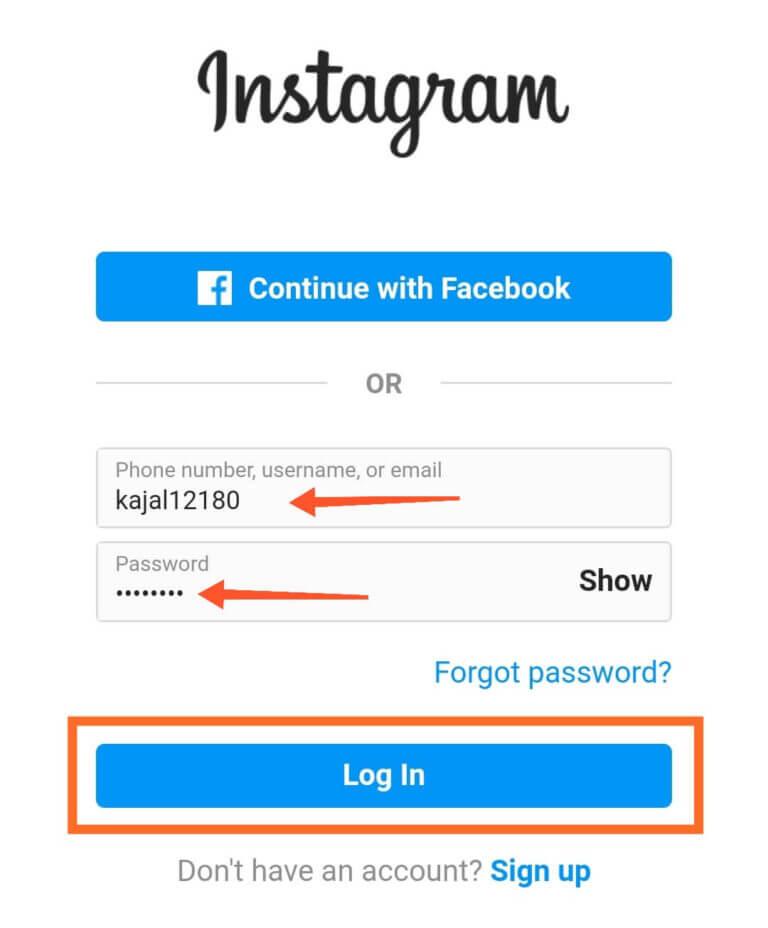 Login Your Instagram Account